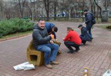 В Запоріжжі встановили незвичну лаву коштом жителів