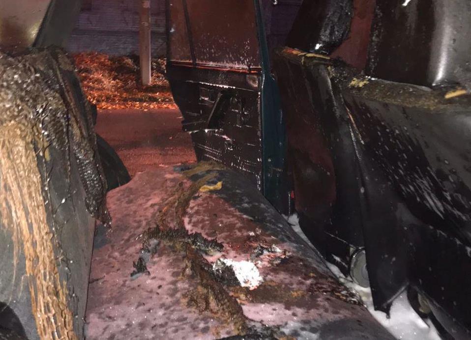 У Запоріжжі під час руху загорівся автомобіль: фото, відео